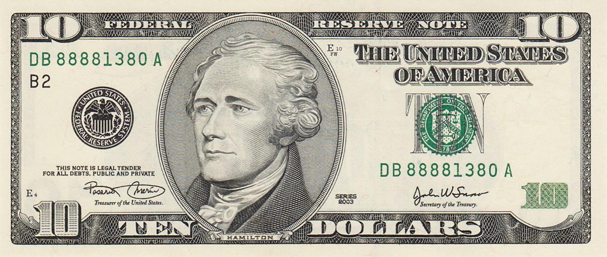 Dollar Man Slender Man on Dollar Bill
