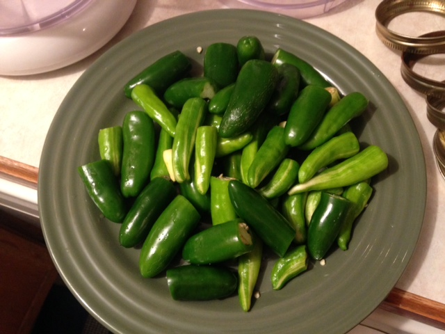 ​Jalapeno and fish hot peppers; hot sauce in the making!