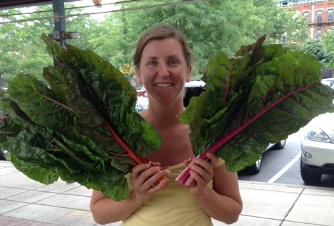 Of course, not everything we grow is petite.  We had jumbo chard in July!