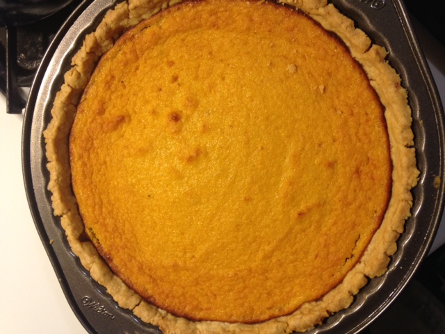 Homemade pumpkin pie.  The canned stuff just doesn't compare.